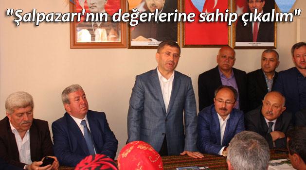 Hilmi Türkmen ve Ahmet Çabuk Şalpazarı'nda