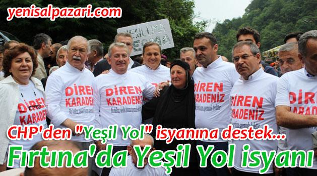 """CHP Heyeti """"Yeşil Yol"""" direnişine destek verdi"""