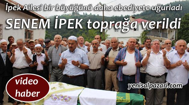 Senem İpek'in cenazesi Çarlaklı Mahallesi'nde toprağa verildi