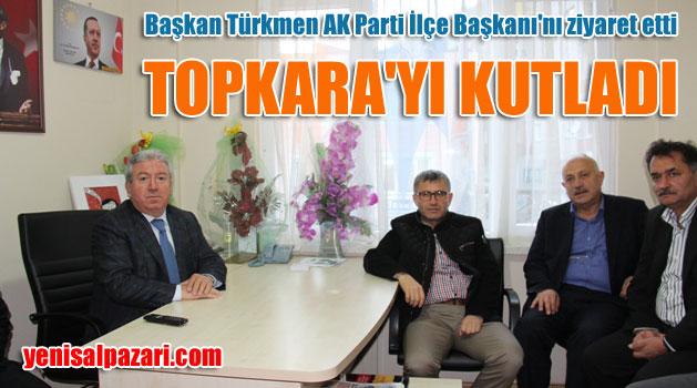 Hilmi Türkmen, Murat Topkara'yı kutladı