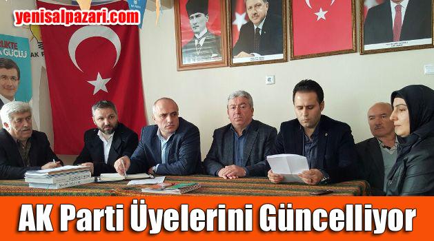 AK Parti Şalpazarı İlçe Teşkilatı üyeleri güncelliyor