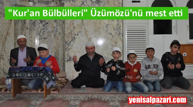 Sütpınar Kur'an Kursu Öğrencileri 7 Mahallede Kandil Programı yaptı