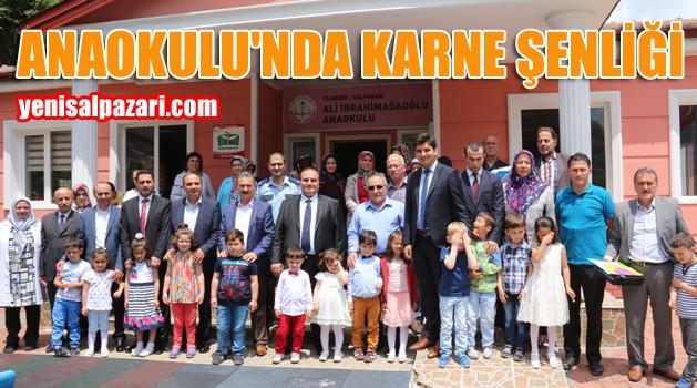 Şalpazarı Ali İbrahimağaoğlu Anaokulu'nda karne şenliği