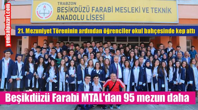 Beşikdüzü Farabi MTAL 21. dönem mezunlarını verdi