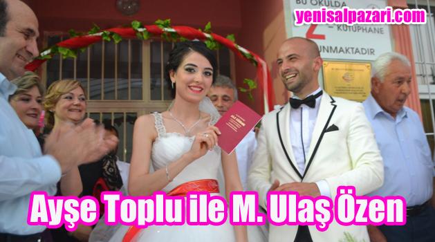 Ayşe Toplu ile Mehmet Ulaş Özen dünya evine girdi