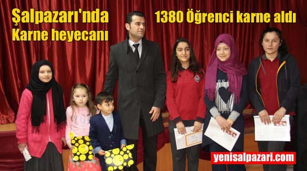 Şalpazarı'nda 1380 öğrenci yarı yıl tatiline çıktı