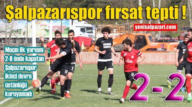 Şalpazarıspor Çarşıbaşı Belediyespor önünde galibiyeti kaçırdı