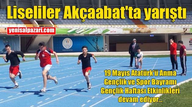 Şalpazarı'ndan 4 Lise'nin sporcuları Söğütlü Atletizm Stadı'nda kıyasıya yarıştı
