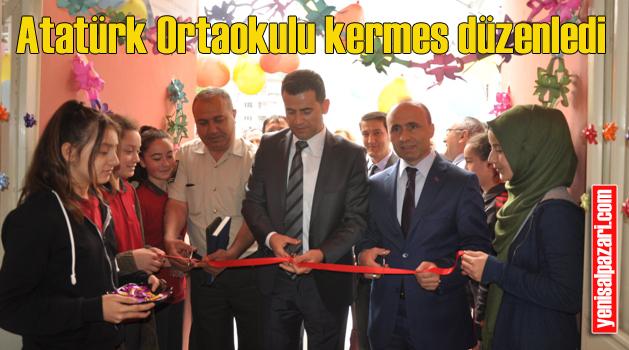 Şalpazarı Atatürk Ortaokulu kermes ve sergi düzenledi