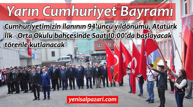Cumhuriyet Bayramı yarın törenle kutlanacak