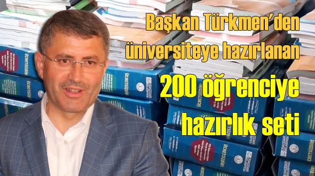 Üsküdar Belediye Başkanı Hilmi Türkmen'den üniversiteye hazarlanan öğrencilere büyük destek