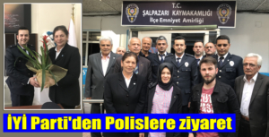 İYİ Parti Şalpazarı İlçe Yöneticileri Polislerin bayramını kutladılar