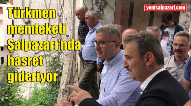 Üsküdar Belediye Başkanı Av. Hilmi Türkmen memleketi Şalpazarı'na geldi