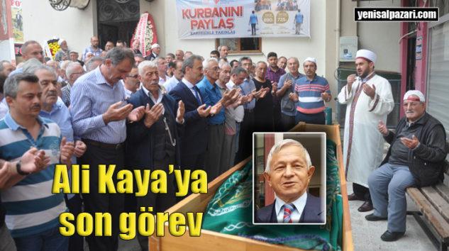 Şalpazarı, Emekli Matematik Öğretmeni Ali Kaya'yı ebediyete uğurladı