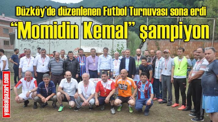 Düzköy Mahallesi'nde düzenlenen Futbol Turnuvası tamamlandı