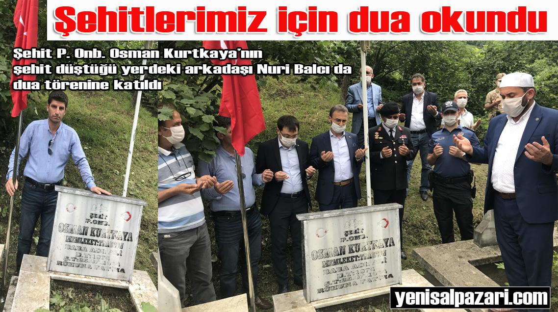 Şehit P. Onb. Osman Kurtkaya'nın kabri başında dua edildi