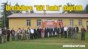 Şalpazarı'nda 29 üreticiye süt soğutma tankı dağıtıldı