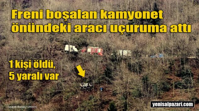 Düzköy yolunda meydana gelen kazada Havva Gören hayatını kaybetti