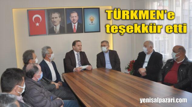 Üsküdar Belediye Başkanı Av. Hilmi Türkmen, AK Parti Şalpazarı İlçe Teşkilatını ziyaret etti