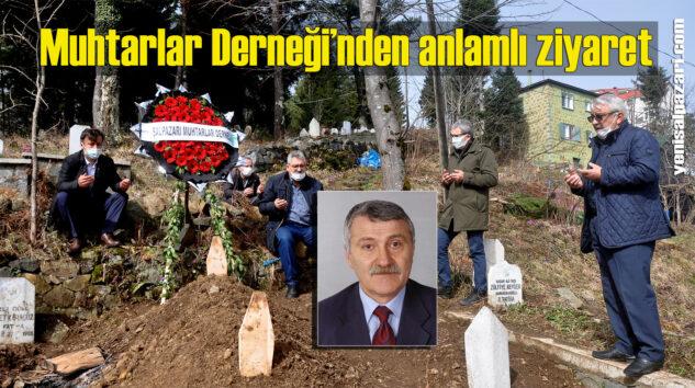 Şalpazarı Muhtarlar Derneği, dün vefat eden H. Ali Karahasanoğlu'nun kabrini ziyaret etti